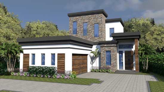 Modern Style Floor Plans Plan: 82-139