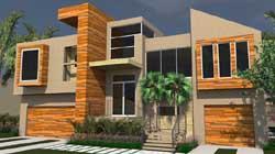 Modern Style House Plans Plan: 82-140