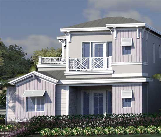 Coastal Style House Plans Plan: 82-141