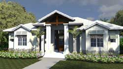 Florida Style Floor Plans Plan: 82-145