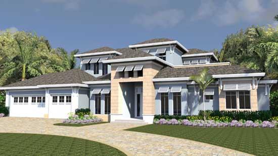 Florida Style House Plans Plan: 82-146