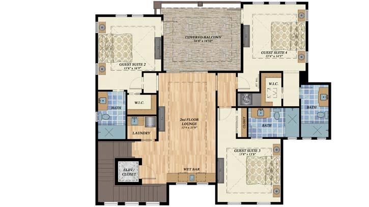 Upper/Second Floor Plan: 82-146
