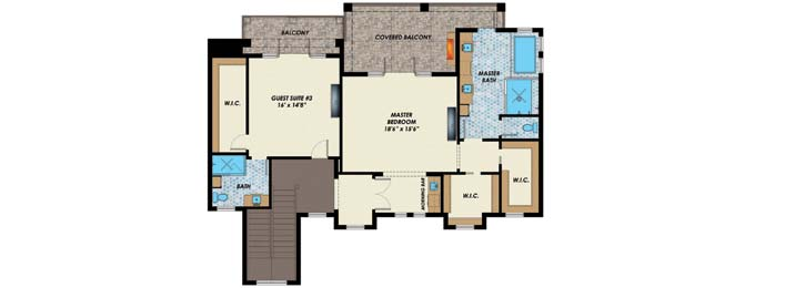Upper/Second Floor Plan: 82-147