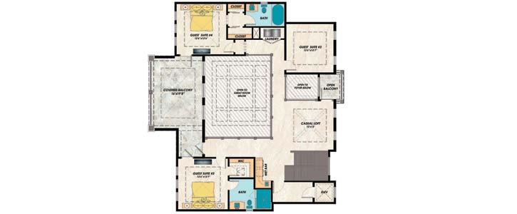 Upper/Second Floor Plan:82-148