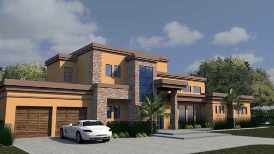 Modern Style Home Design Plan: 82-149