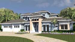 Florida Style Floor Plans Plan: 82-150