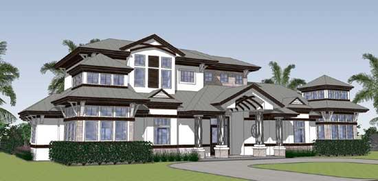 Coastal Style Home Design Plan: 82-151