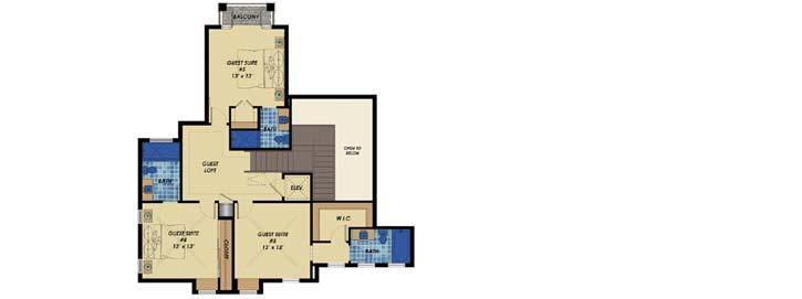 Upper/Second Floor Plan: 82-151