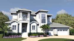 Florida Style House Plans Plan: 82-152