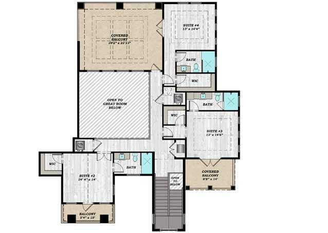 Upper/Second Floor Plan: 82-152