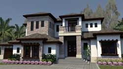 Modern Style House Plans Plan: 82-153