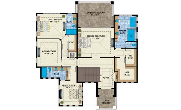 Upper/Second Floor Plan:82-153