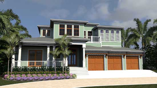 Traditional Style Home Design Plan: 82-154
