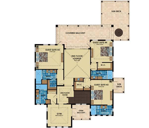 Upper/Second Floor Plan:82-154