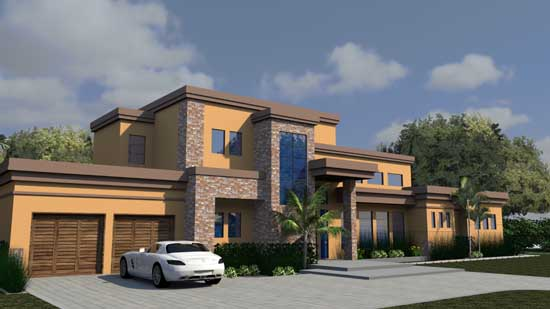 Modern Style House Plans Plan: 82-155