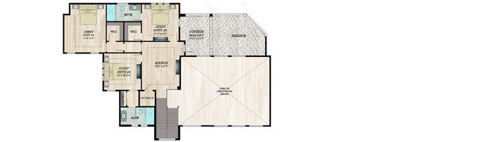 Upper/Second Floor Plan: 82-155