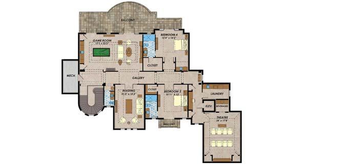 Upper/Second Floor Plan: 82-156