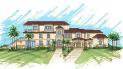 Mediterranean Style House Plans Plan: 82-157