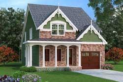 Victorian Style Home Design Plan: 84-135