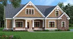Shingle Style Home Design Plan: 84-138