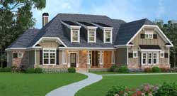 English-Country Style Floor Plans Plan: 84-159