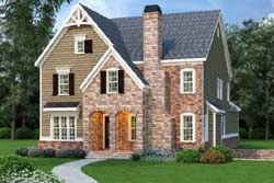 English-Country Style Floor Plans Plan: 84-168