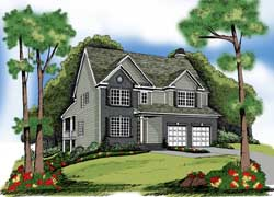 Colonial Style Floor Plans Plan: 84-192