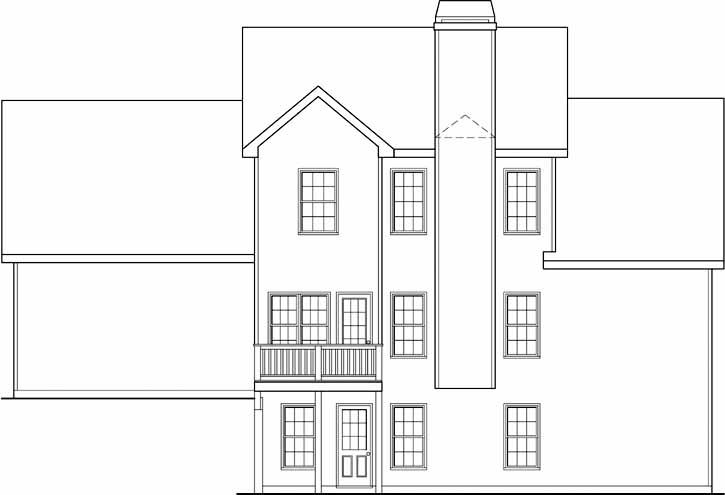 Rear Elevation Plan: 84-205