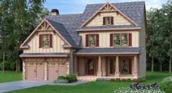 Craftsman Style House Plans Plan: 84-215