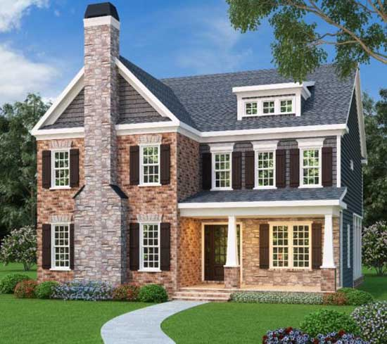 Southern-colonial House Plan - 5 Bedrooms, 4 Bath, 3571 Sq