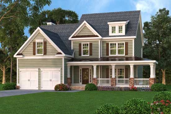 Farm Style Home Design 84-238