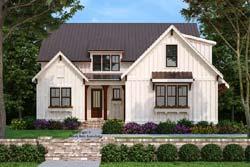 Modern-Farmhouse Style Home Design Plan: 85-1061