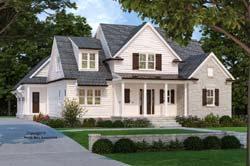 Modern-Farmhouse Style Home Design Plan: 85-1067
