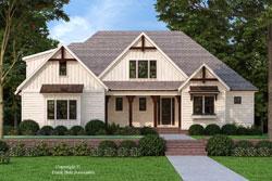 Modern-Farmhouse Style Home Design Plan: 85-1068