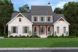 Farm Style Home Design Plan: 85-1072