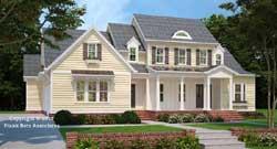Modern-Farmhouse Style Home Design Plan: 85-115
