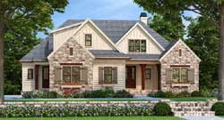 Modern-Farmhouse Style Home Design Plan: 85-116