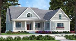 Craftsman Style Home Design Plan: 85-125