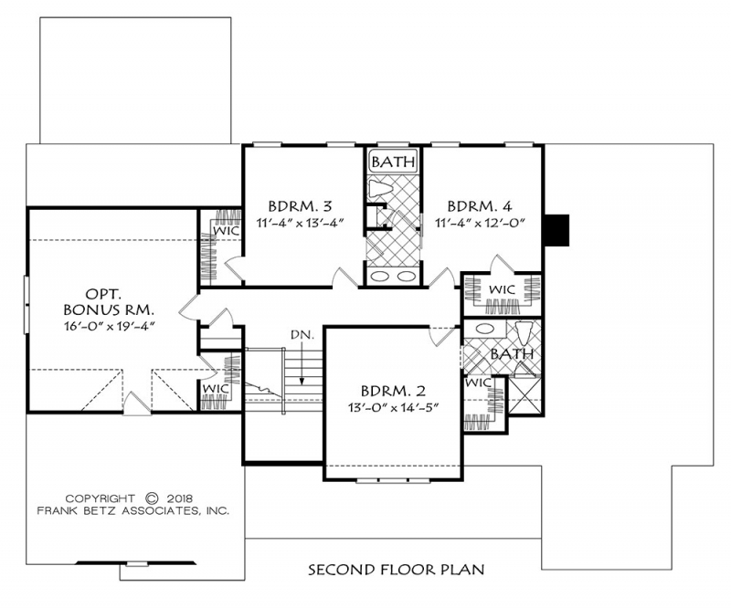 Upper/Second Floor Plan: 85-127