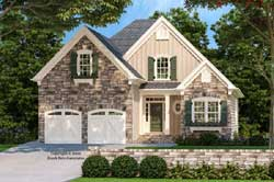 Traditional Style Home Design Plan: 85-128