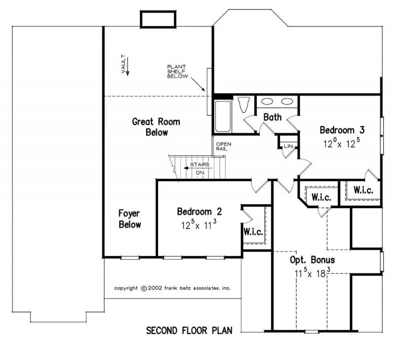Upper/Second Floor Plan: 85-133