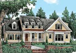 Modern-Farmhouse Style Home Design Plan: 85-134