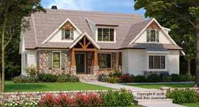 Craftsman Style Home Design Plan: 85-136