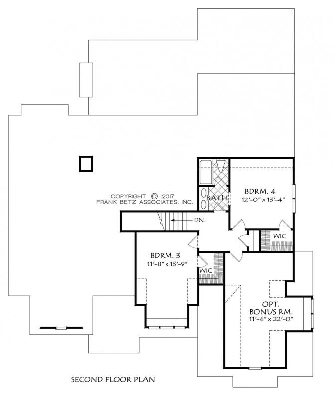 Upper/Second Floor Plan: 85-136