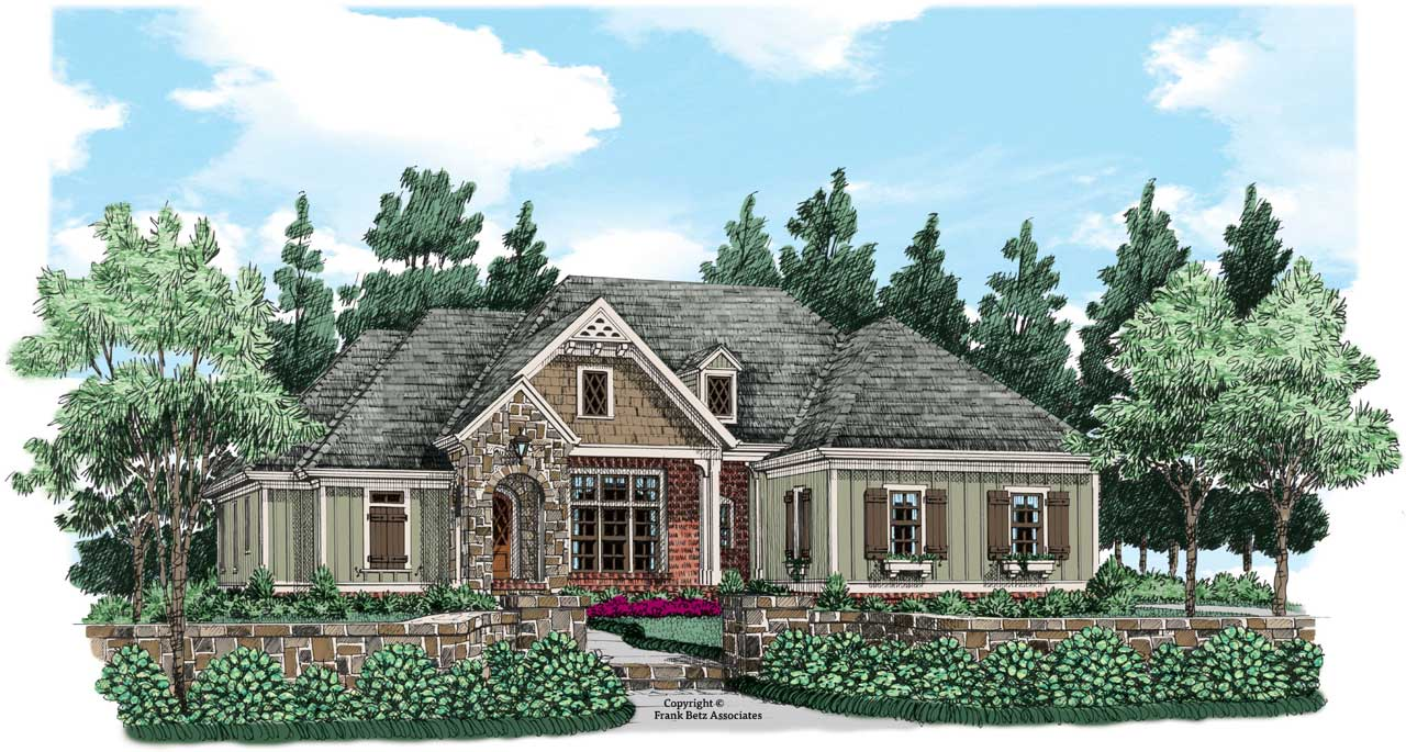 Cottage Style Home Design Plan: 85-138