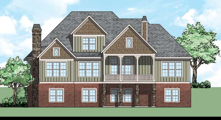 Rear Elevation Plan: 85-138