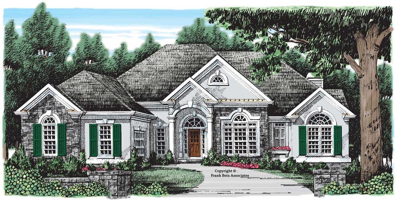 European Style Home Design Plan: 85-139