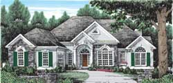 European Style House Plans Plan: 85-139