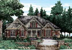 Country Style Floor Plans Plan: 85-147