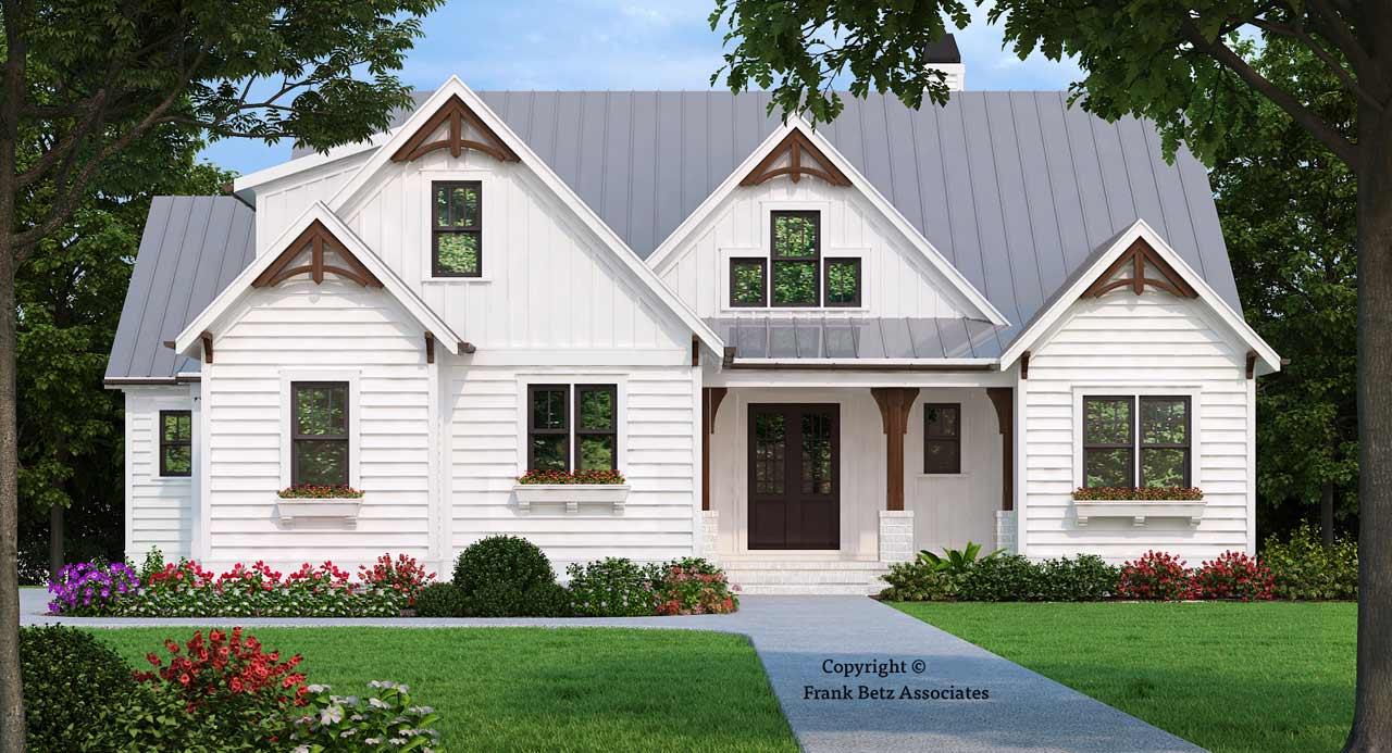 Modern-farmhouse Style Home Design Plan: 85-159
